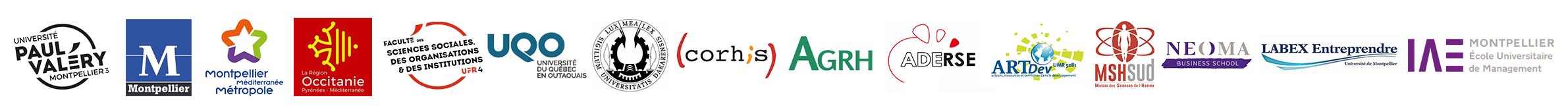 bandeau logos partenaires colloque gouvernance