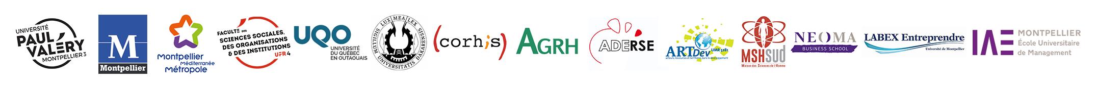 logos des partenaires du colloque la gouvernance dans tous ses états